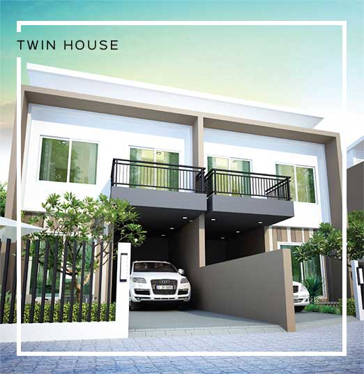 Baan Salil - Twin House Exterior Design